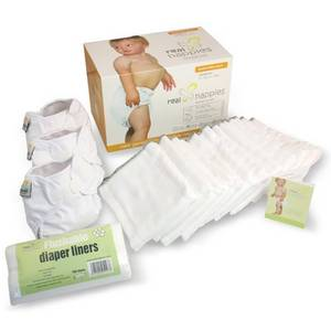 Wholesale nappies: Real Nappies Cloth Diapers Essentials Pack, Newborn Size, for Babies Up To 12 Weeks, 5-13 Lb