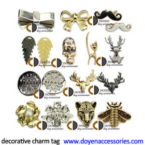 Wholesale purse: Wholesale DIY Handbag Gold Charm Tag Hardware Purse Metal Parts Fitting Decorative Accessories