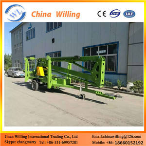 Wholesale fixed scissor lift: 18m Outdoor Articulated Pickup Truck Boom Lift Price Truck Mounted Spider Lift for Sale