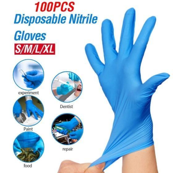 Sell Latex Gloves, Nitrile examination powder free blue glove