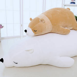 Wholesale soft plush: Polar Bear Plush Toy Polar Bear Pillow Bear Dolls Animal Soft Toys