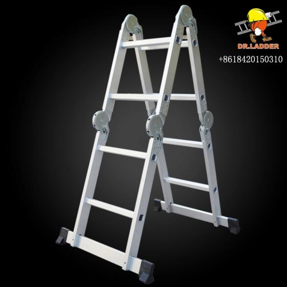 Sell Aluminum telescopic step ladder telescoping A-type frame extension multi pu