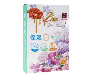 Wholesale bee milk: DR.JOU Honey Vitamin E Repairing Facial Sheet Mask with 5 PCS