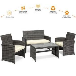 Wholesale furnitures: Black Outdoor Best Choice Backyard PC 4 Piece Patio Brown Wicker Furniture