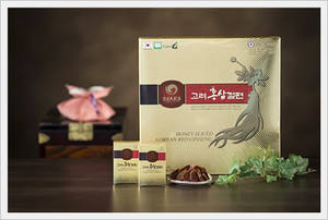 Wholesale taffy: Korean Red Ginseng Honeyed Slices 300g