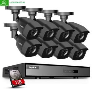 Wholesale CCTV Products: SANNCE 1080P HDMI HD-TVI 8CH / 4CH DVR IR CUT CCTV Security Camera System 1TB US