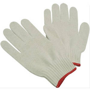 Wholesale cotton top: Top Quality OEM Knitted Gloves/Safety Working Knitted Cotton Gloves