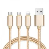 Sell Braided 3 in 1 USB Cable with Aluminum Shell