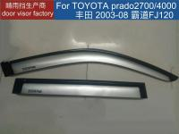 Prado FJ120 Door Visor Silver Color