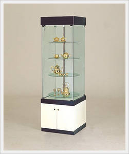 Wholesale jewelry box: Rotating Display Stand with Glass Plate