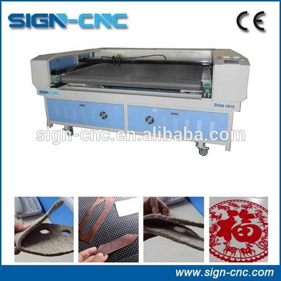Jinan Sign CNC Laser Cutting Machine SIGN-1610 for Fabric with Auto-teeding