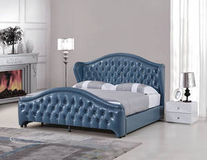 Wholesale Beds: Modern American Tufted Leather Bed