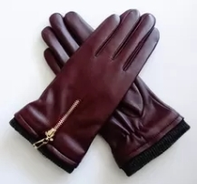 Wholesale mitten: Ladies Soft Sheepskin Leather Wool Lining Leather Gloves Comfortable for Winter