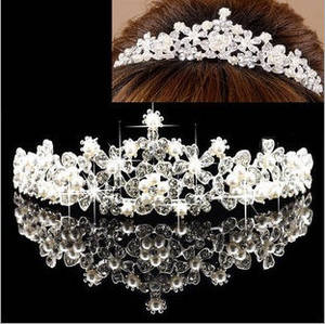 Wholesale fashion accessories: Tiara Hair Crown Hair Jewelry Bridal Wedding Fashion Hair Accessories