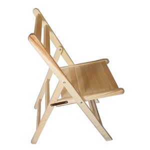 Wholesale chair: Wooden Folding Dining Chair - Solid Unfinished Pine