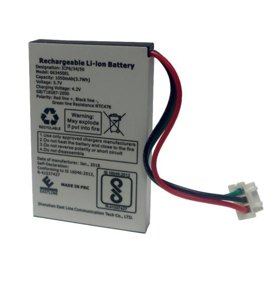 Sell 063450EL BIS Certified 3.7Volt 1000mAh Rechargeable Lithium-Ion Battery