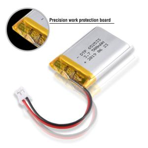 Wholesale tyco: DTP652533 3.7V Lipo Battery Rechargeable Lithium Polymer Battery 500mAh with CB KC CE ROHS