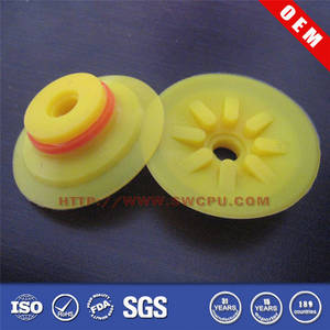 Wholesale cupping rubber: Bellows Yellow Rubber Suction Cup