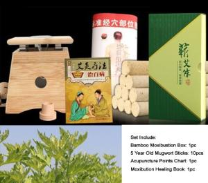 Wholesale acupuncture needle: Chinese Mugwort Moxibustion Moxa Sticks with Bamboo Box
