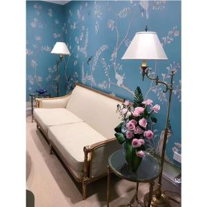 Wholesale raw silk: Hand Painted Wallpaper Silk Wallcovering