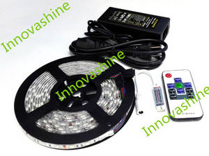 Wholesale rgb remote controller: RGB LED Strip Kit Complete Set with Mini Remote Controller for Commercial Decoration