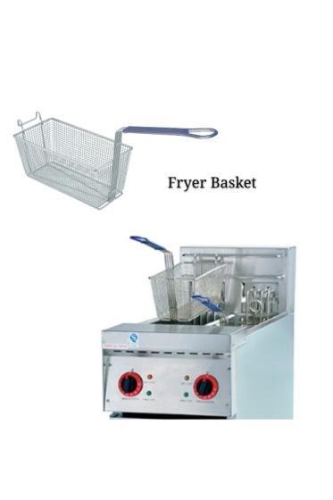 Food Class ODM Accepted Iron Wire Electroplated French Fries Fry Basket