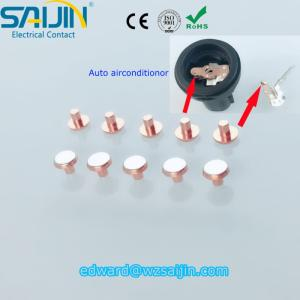 Wholesale contact rivet: Automobile Airconditionor Switch Bimetal Contact Tip Bimetallic Electrical Contact Rivet Ex-factory