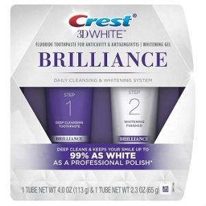 Wholesale whitening toothpaste: Crest 3D White Brilliance + Whitening Two-step Toothpaste, 4.0 Oz and 2.3 Oz
