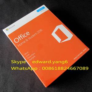 Wholesale 2016 key card: Microsoft Office 2016 Home & Student PC Key Code Key Card Retail Sealed Packing Box