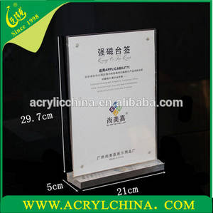 Wholesale acrylic holder: A4 Acrylic Menu Display Stand ,Menu Holder