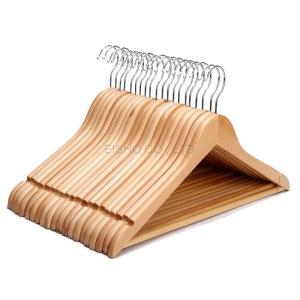Wholesale cloth: EISHO Wood Clothes Hanger