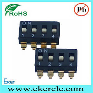Wholesale DIP Switches: RoHS Compliant 2.54mm 2 4 8 10 PIN SMD Dip Switch