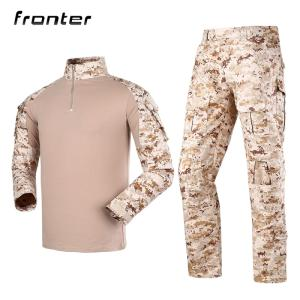 Wholesale combat: Knitted Army Military Combat Frog Sleeve Tactical Shirt