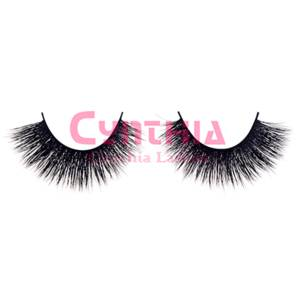 Wholesale fur mink: Handcrafted Double-layered Mink Fur Strip Lashes