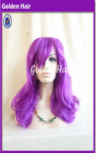 Wholesale curly synthetic half wigs: Golden Hair High Quality Heat Resistant Fibre Synthetic Lace Front Wig