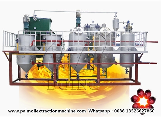 1-10tpd Small Scale Palm Oil Refinery Machine for Sale