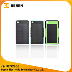 Wholesale solar mobile charger: Wholesale Power Bank 6000mah Waterproof Solar Charger for Mobile Phone
