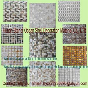 Wholesale freshwater pearl earrings: Shell Mosaic Tile Factory Direct Sale