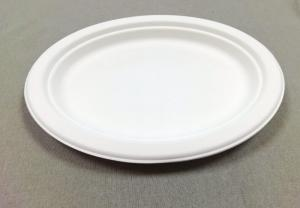 Wholesale biodegradable plastic cup: Biodegradable Sugarcane Pulp Oval Plate