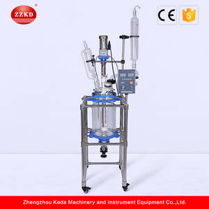 Wholesale double layer glass reactor: Lab Chemical Double Layer Glass Reactor