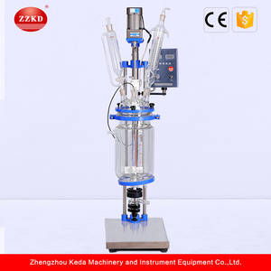 Wholesale 5l jacketed glass reactor: High Quality Jacketed Glass Reactor