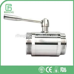 Wholesale wooden beverage package box: New Style Male Direct 2 Way Sanitary Stainless Steel Ball Valve