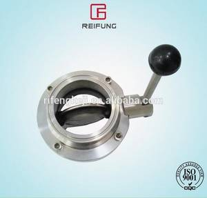 Wholesale sanitary butterfly valves: Stainlesss Steel Sanitary Butterfly Ball Valve 3A