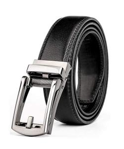 Wholesale waist belts: Leather Ratchet Belt for Men Fit Waist Size Up To 44 with Automatic Buckle