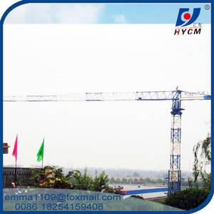 Wholesale flat rope: QTZ160 PT6020 Flat Top Tower Crane 10tons Max. Load 50m Free Height