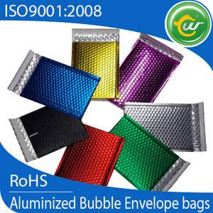 Wholesale aluminum foil bags: Metallic Bubble Mailers, Colored Aluminum Foil Bubble Mailing Bags