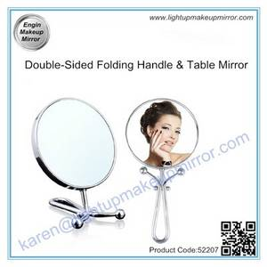 Wholesale double tables: Double-Sided Folding Handle & Table Mirror