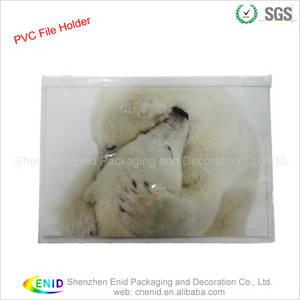 Wholesale Speciality & Promotional Bags: Printed A4 PVC File Bag Flat Zipper PVC Bag
