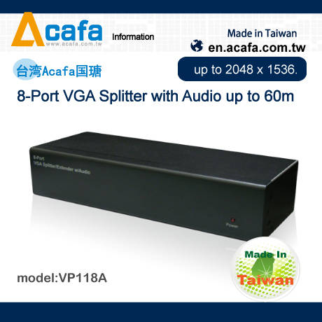 Sell OEM 8 Port VGA Splitter and Extender with Audio