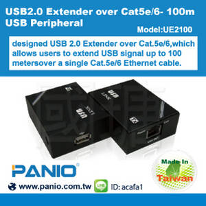 Wholesale USB Hubs: USB2.0 Peripheral Extender Over Cat5e/6- 100m